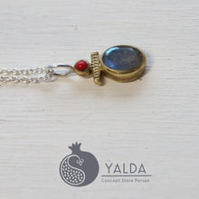 Load image into Gallery viewer, Bohem Chic Labradorite Silver Necklace - Yalda Concept Store Persan