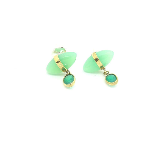 Bohème Chic Green Onyx Earrings - Yalda Concept Store Persan