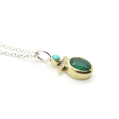 Bohème Chic Green Silimanite Necklace - Yalda Concept Store Persan
