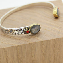 Load image into Gallery viewer, Bohème Chic Labradorite Silver Bracelet - Yalda Concept Store Persan