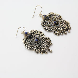 Bohème Chic Lapis Lazuli Earrings - Yalda Concept Store Persan