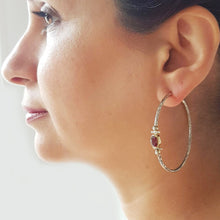 Load image into Gallery viewer, Bohème Chic Red Hoop Earrings - Yalda Concept Store Persan