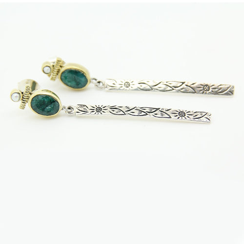 Charming Chic Green Dangling Earrings - Yalda Concept Store Persan