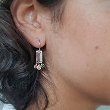 Load image into Gallery viewer, Charming Silver & Tiny Stones Earrings - Yalda Concept Store Persan