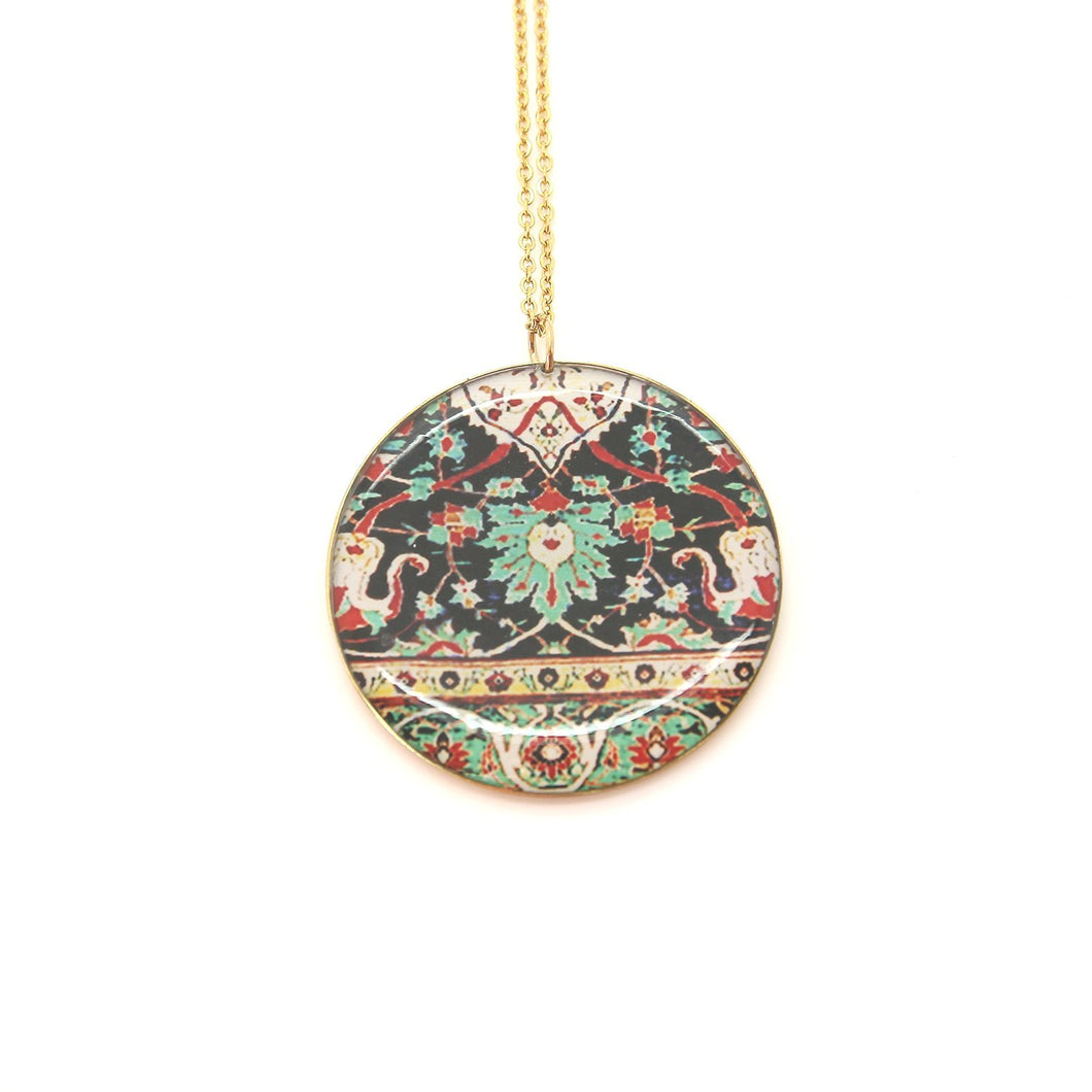 Delicate Patterns Long Necklace - Yalda Concept Store Persan