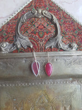Load image into Gallery viewer, Drop Earrings, Silver 925 & Ruby - Yalda Concept Store Persan