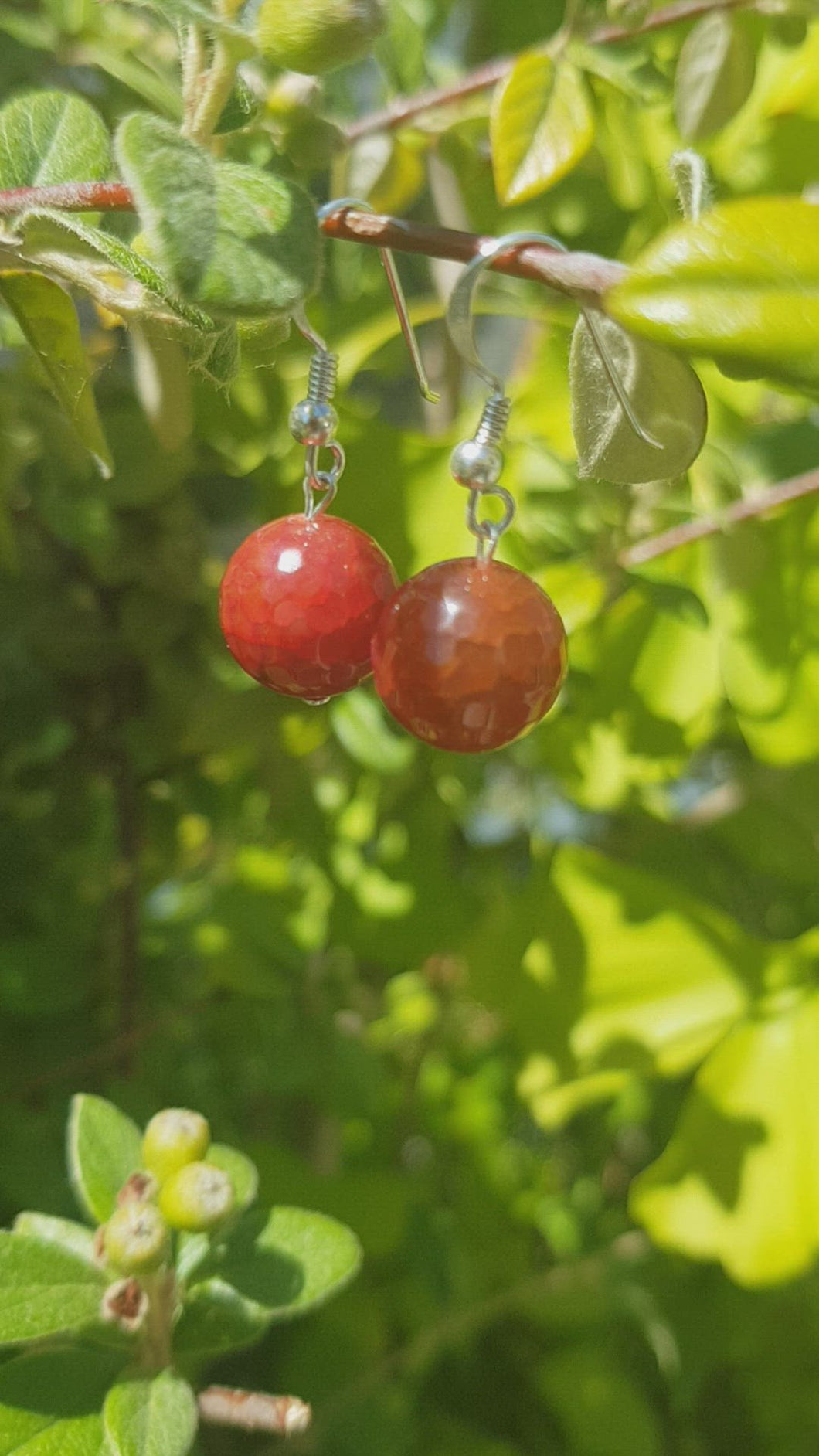 Natural Stones Earrings Silver 925