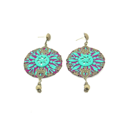 Fine Embroidered Earrings - Yalda Concept Store Persan