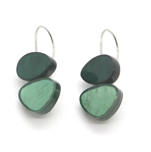 Fine Green Shell Earrings - Yalda Concept Store Persan