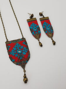Fine Hand Embroidered Necklace - Yalda Concept Store Persan