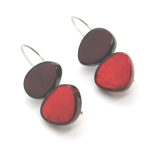 Fine Red Handamde Earrings - Yalda Concept Store Persan