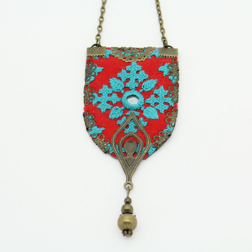 Fine Hand Embroidered Necklace