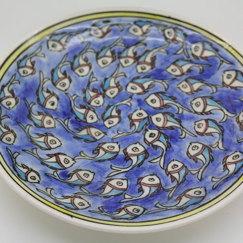 Fish Handpainted Medium Plate - Yalda Concept Store Persan