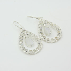 Graceful Moonstone Sterling Silver 925 Earrings - Yalda Concept Store Persan