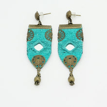 Load image into Gallery viewer, Handmade Embroidered Earrings, Blue Earrings - Yalda Concept Store Persan