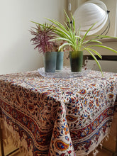 Load image into Gallery viewer, Handmade Tablecloth, Little Motifs Ghalamkar 100x100 cm - Yalda Concept Store Persan