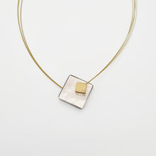 Load image into Gallery viewer, Silver Color Square Necklace