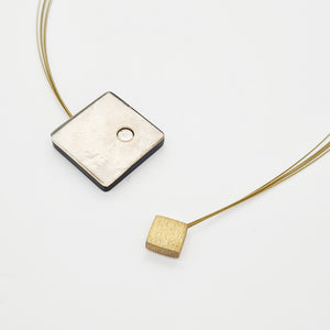 Silver Color Square Necklace