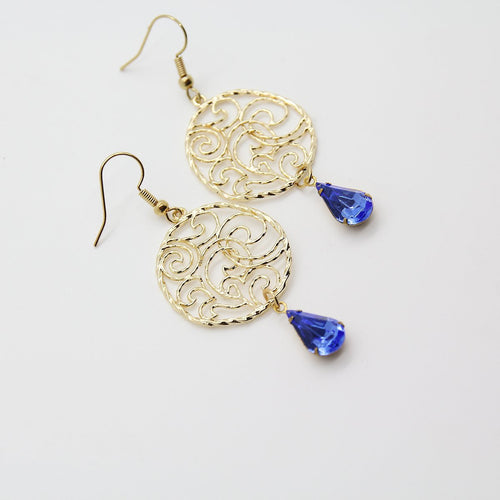Ishtar Blue Drop Earrings - Yalda Concept Store Persan