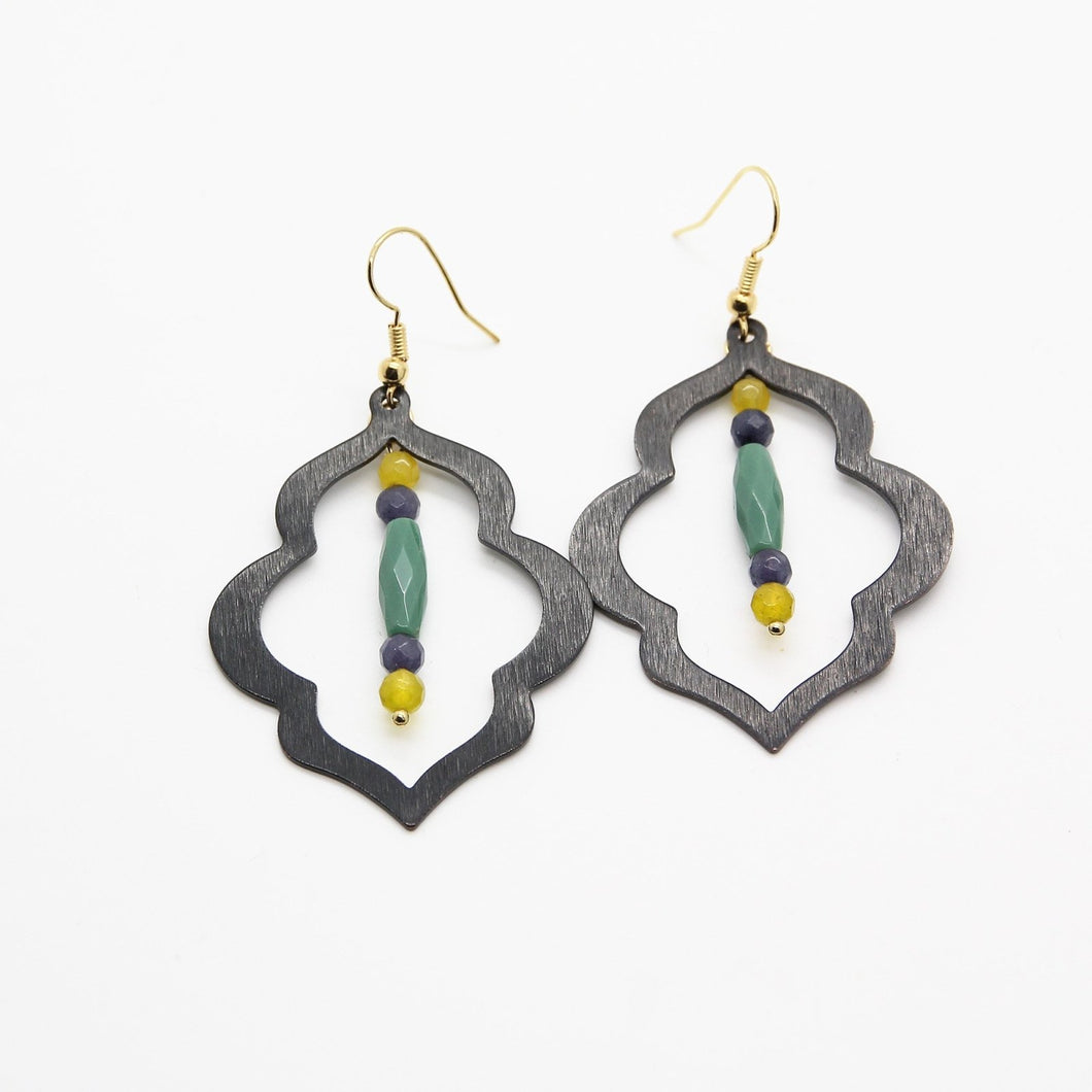 Ishtar Jade Earrings - Yalda Concept Store Persan
