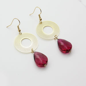 Ishtar Red Drop Earrings - Yalda Concept Store Persan