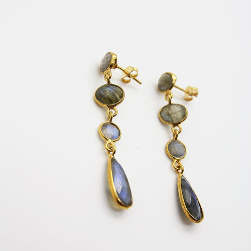Ladan Labradorite Earrings - Yalda Concept Store Persan