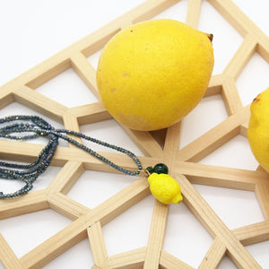 Lemon Necklace and Jade Stones - Yalda Concept Store Persan