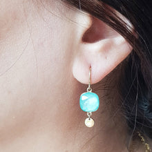 Load image into Gallery viewer, Minimalist Swarovski Earrings Mint Color - Yalda Concept Store Persan