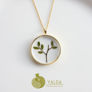 Necklace, Persian Mimosa Leaves - Yalda Concept Store Persan