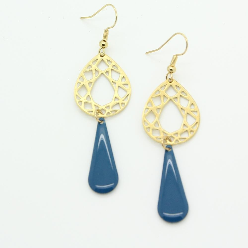 Oriental Blue Drop Earrings - Yalda Concept Store Persan