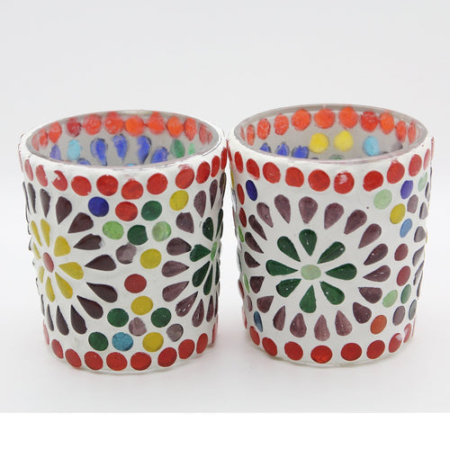 Pair of Small Oriental Tea Lights - Yalda Concept Store Persan