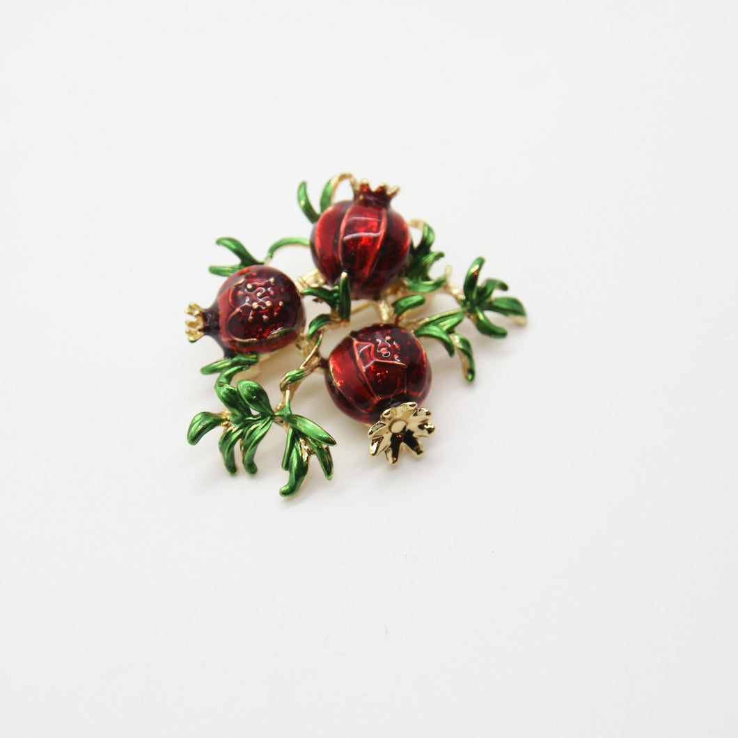Pomegranate Brooch, Flower - Yalda Concept Store Persan