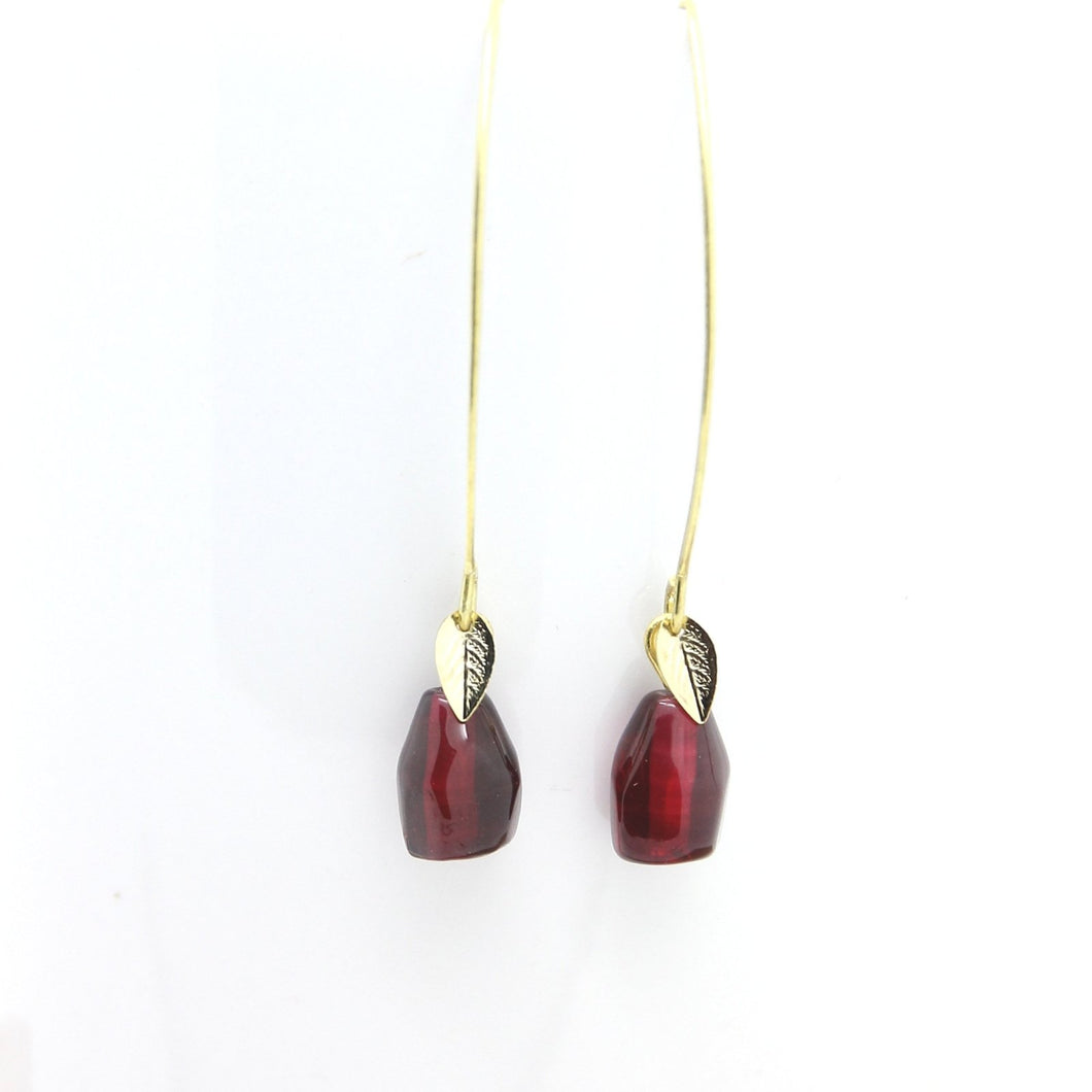 Pomegranate Earrings, Single Glass Seeds - Yalda Concept Store Persan
