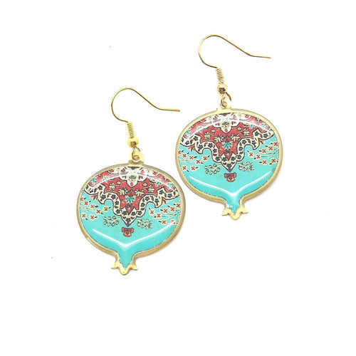Pomegranate Earrings With Delicate Patterns - Yalda Concept Store Persan