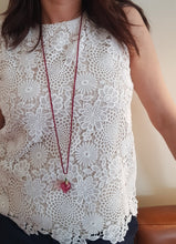 Load image into Gallery viewer, Pomegranate Necklace, Transparant Pomegranate & Jade Seeds - Yalda Concept Store Persan