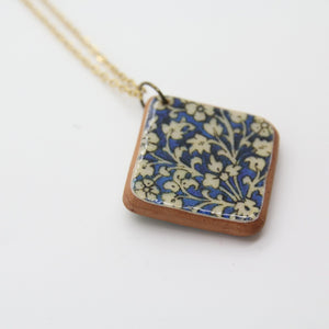 Qajar Painting Tile Necklace, Baked Clay - Yalda Concept Store Persan