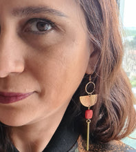 Load image into Gallery viewer, Red Long Drop Earrings