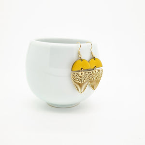Saffron Earrings