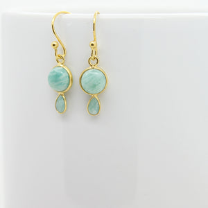 Graceful Silver & Amazonite Earrings
