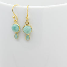 Load image into Gallery viewer, Graceful Silver & Amazonite Earrings