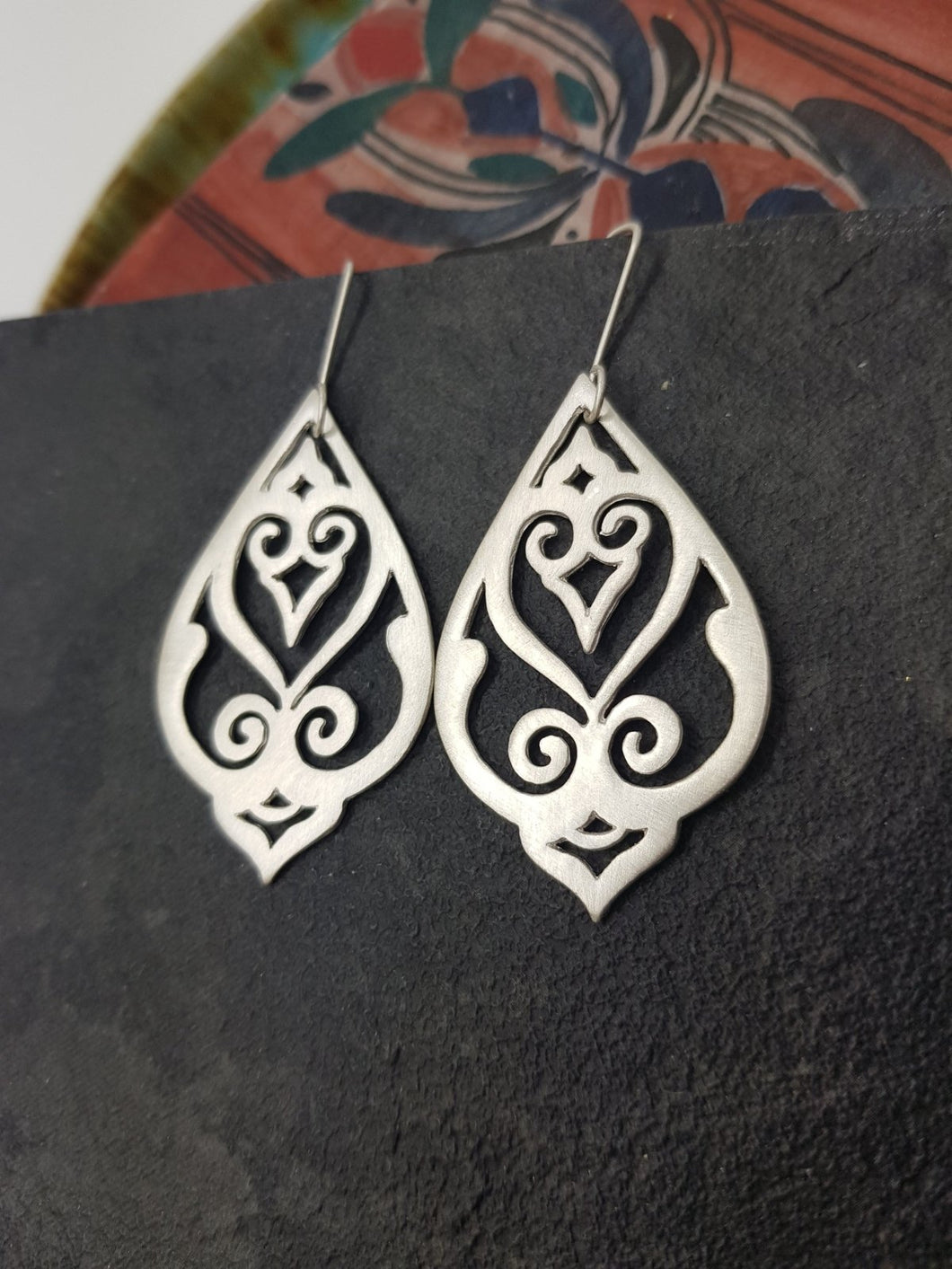 Sterling Silver 925 Dangle Earrings - Yalda Concept Store Persan