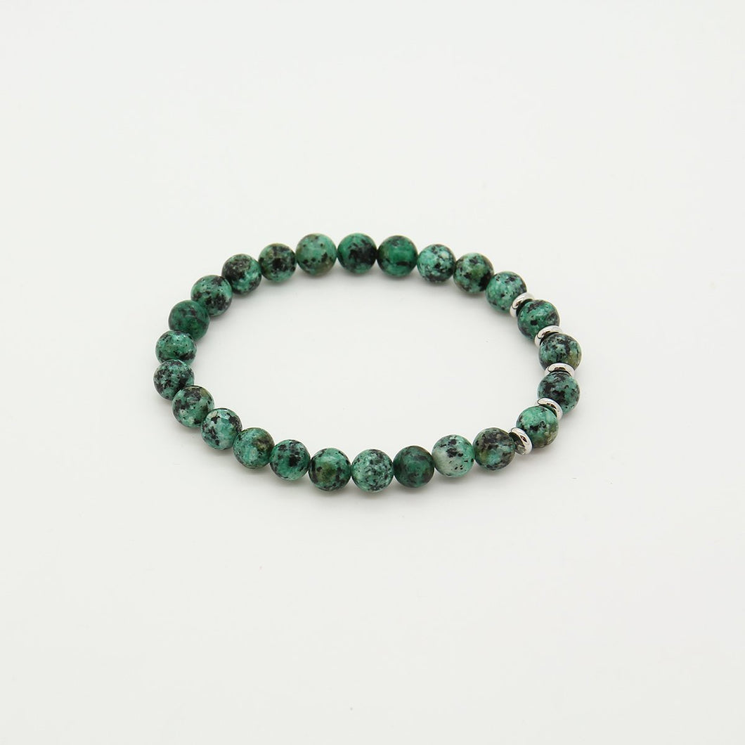 Turquoise Stone & Stainless steel Bracelet - Yalda Concept Store Persan