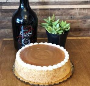 Black Button Bourbon Caramel Cheesecake