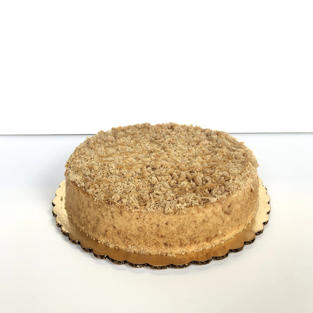 Apple Caramel Streusel Cheesecake