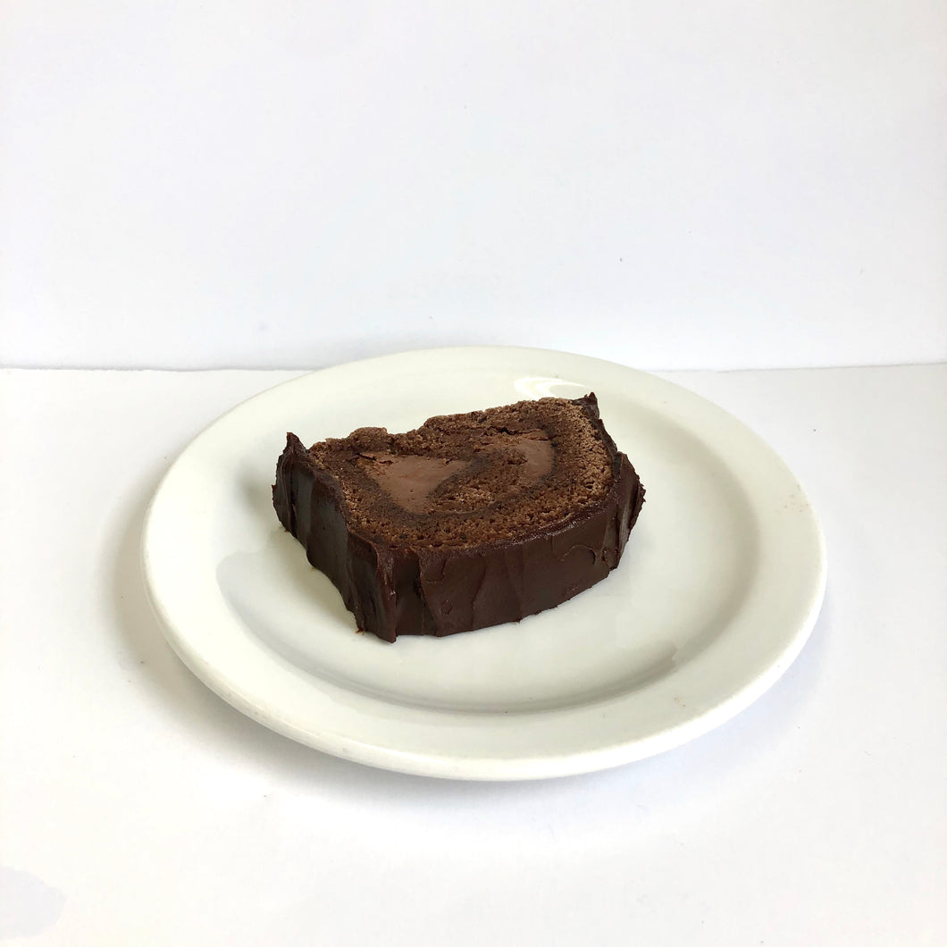 Chocolate Log Cake Slice