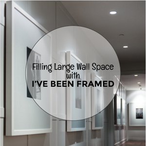Filling Large Wall Space with Big Custom Frames