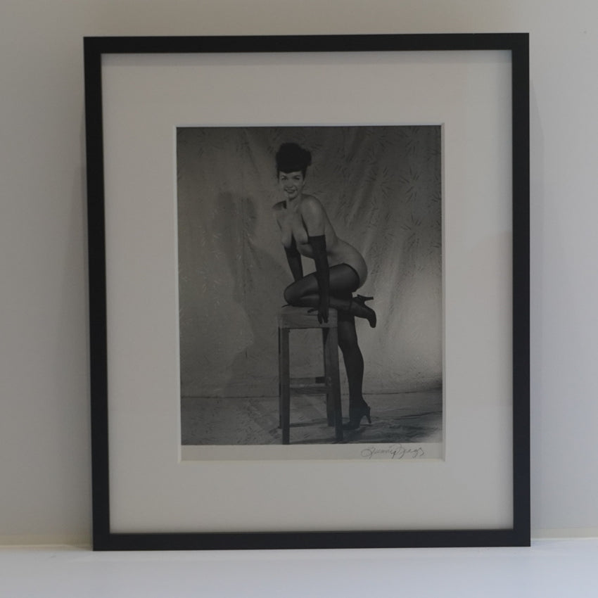 "Bunny Yeager  ""Bettie Page Nude on Stool"""