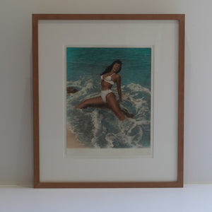 "Bunny Yeager ""Bettie Page in Surf"""