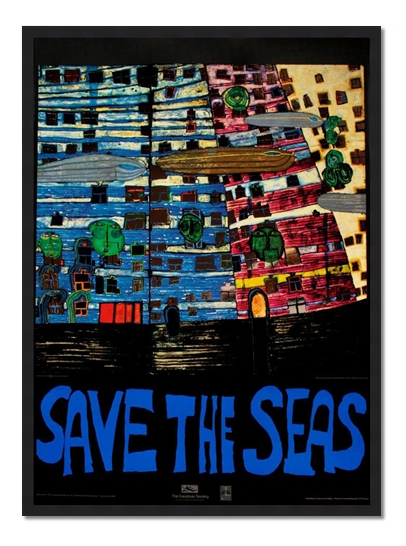 "Friedensreich Hundertwasser ""Save The Seas"""