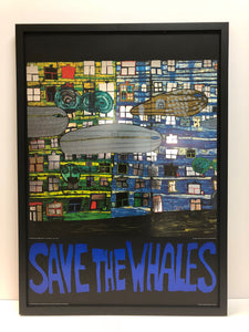 "Friedensreich Hundertwasser ""Save The Whales"""